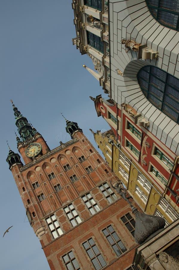 Vieille ville Danzig/Pologne photos libres de droits