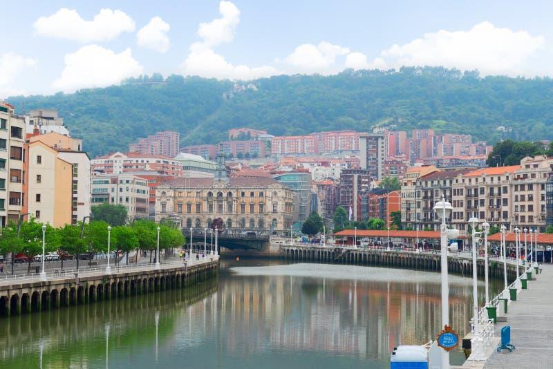 Vieille ville de Bilbao, Espagne images stock