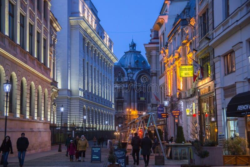 Vieille ville de Bucarest image stock