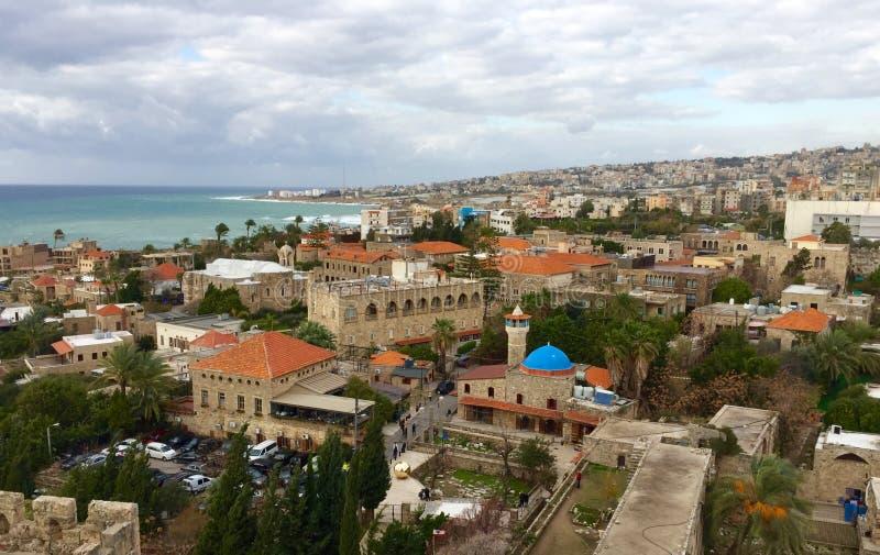 Vieille ville de Byblos, site de patrimoine mondial de l'UNESCO du Liban images stock