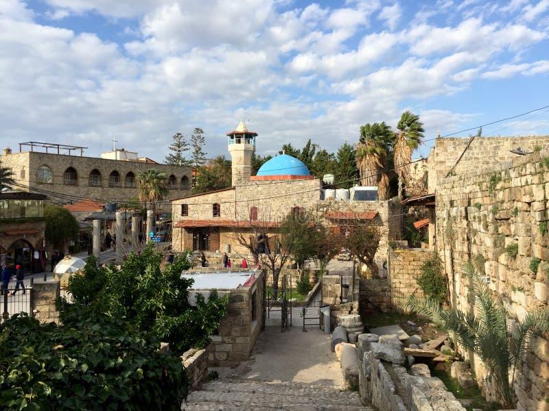Vieille ville de Byblos, site de patrimoine mondial de l'UNESCO du Liban photos libres de droits