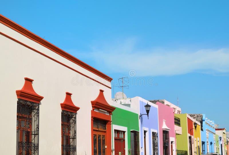 Vieille ville de Campeche dans l'architecture de colonial du Mexique image libre de droits