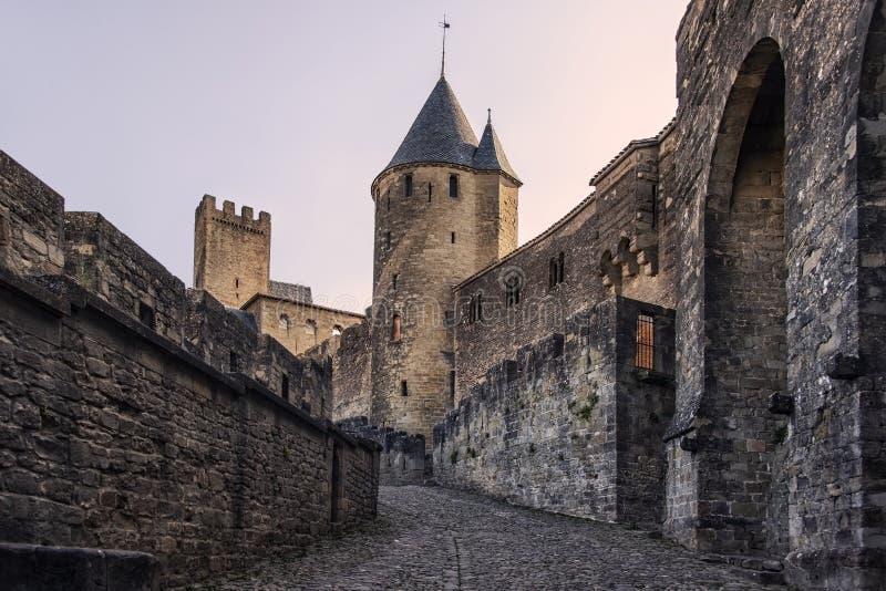 Vieille ville de Carcassonne photos stock