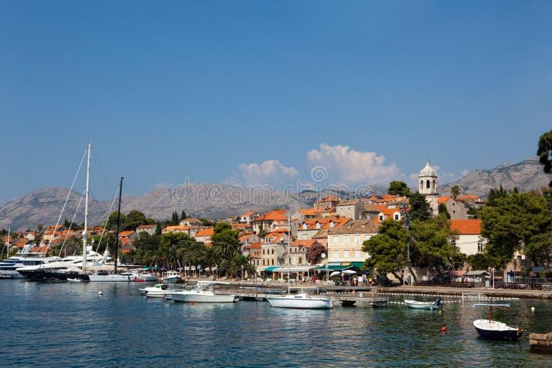 Vieille ville de Cavtat - Croatie image stock
