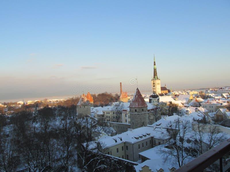 Vieille ville de centre historique de Tallinn images stock