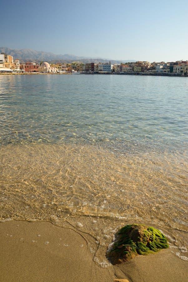 Vieille ville de Crète Chania image libre de droits
