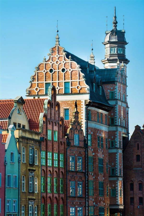 Vieille ville de ville de Danzig en Pologne photographie stock