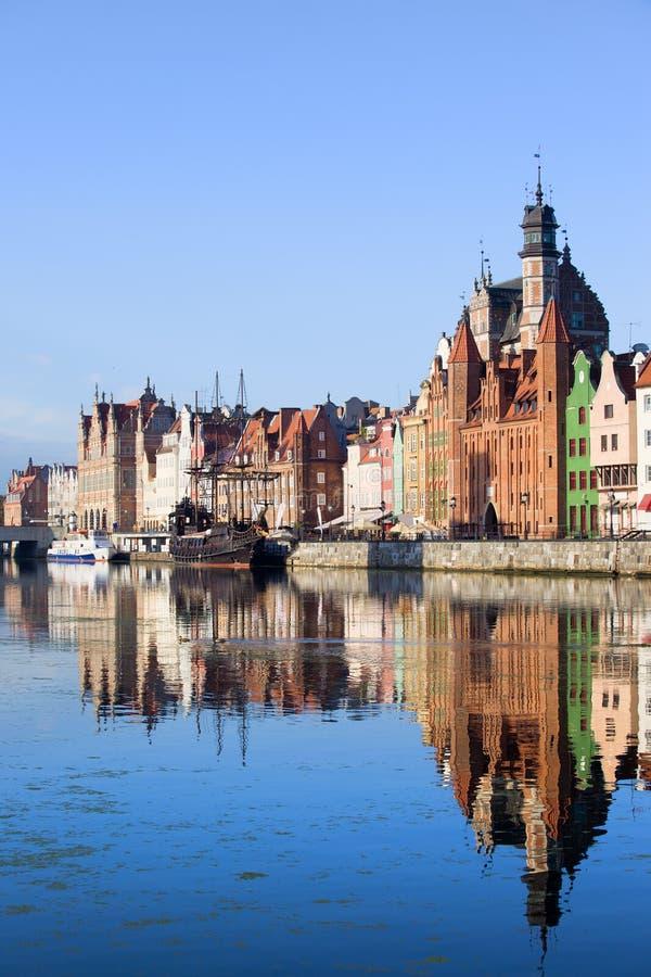 Vieille ville de Danzig en Pologne images stock