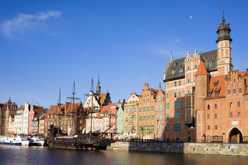 Vieille ville de Danzig en Pologne image stock