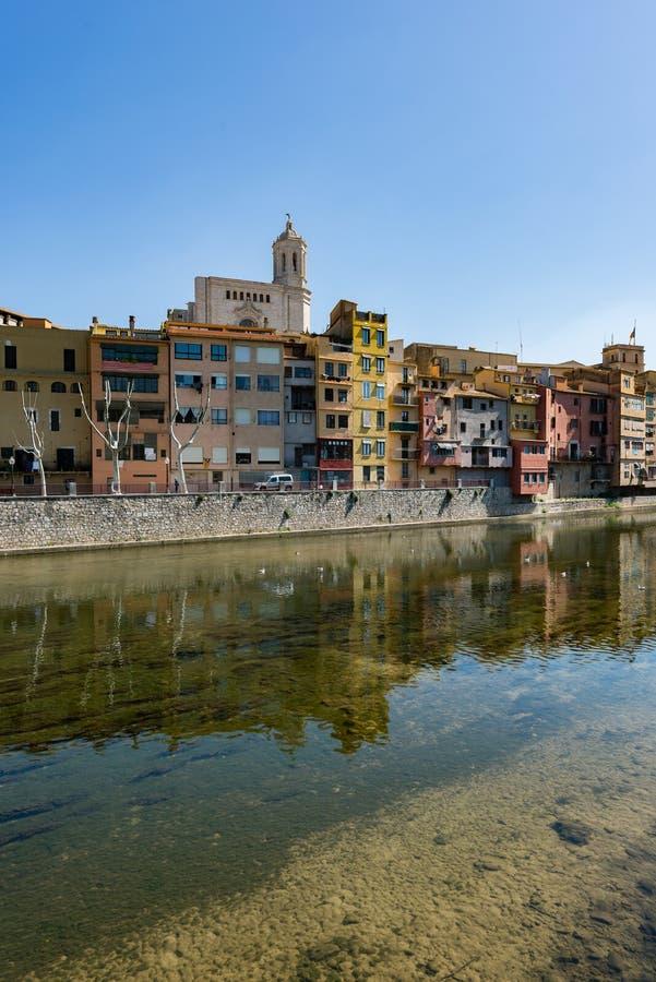 Vieille ville de Gérone image libre de droits
