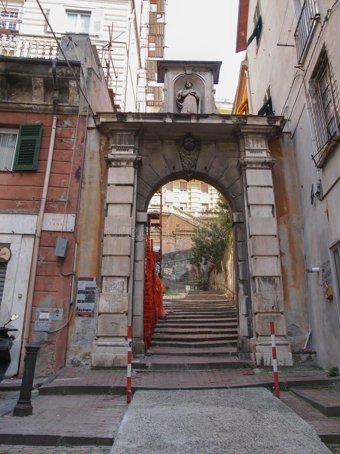 Vieille ville de Gênes image libre de droits