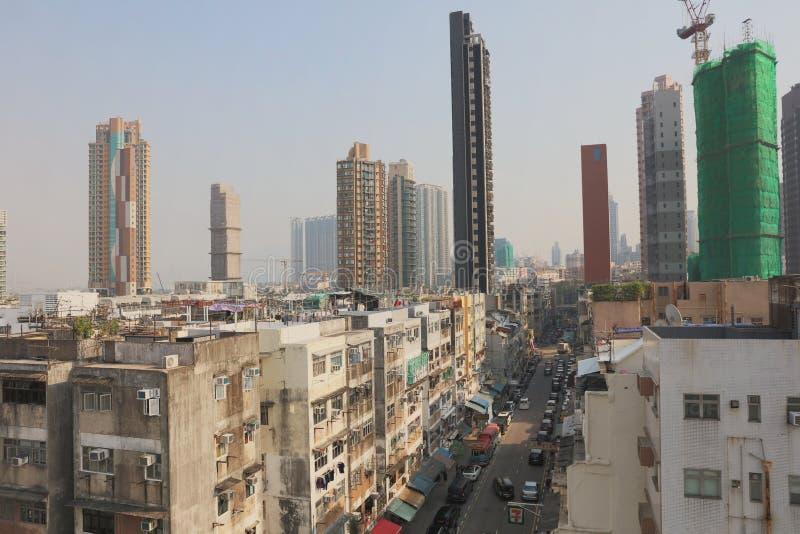vieille ville de ville Hong Kong de Kowloon photographie stock libre de droits