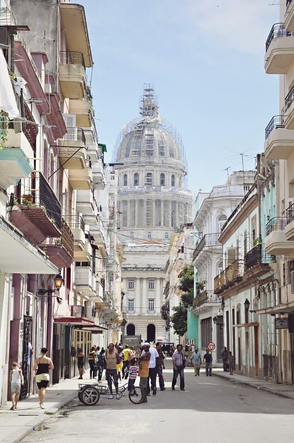 Vieille ville de La Havane au Cuba photographie stock libre de droits