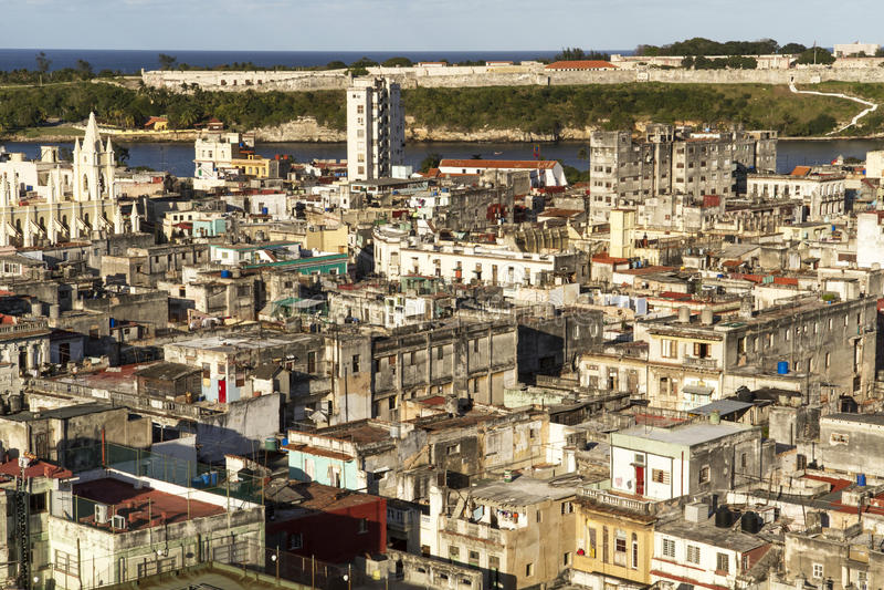 Vieille ville de La Havane, Cuba image libre de droits