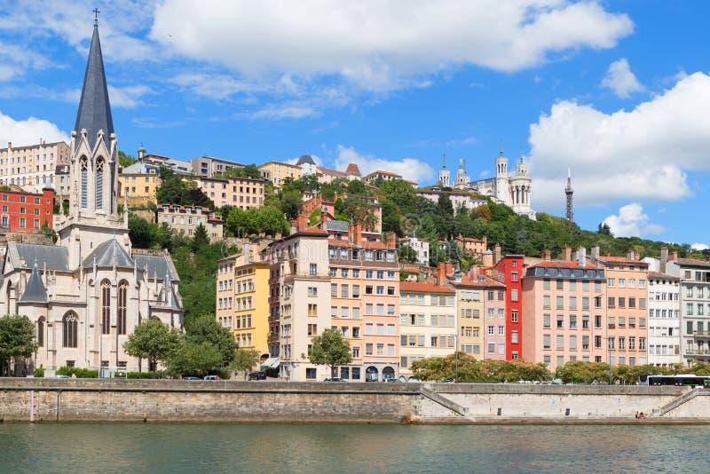 Vieille ville de Lyon photographie stock