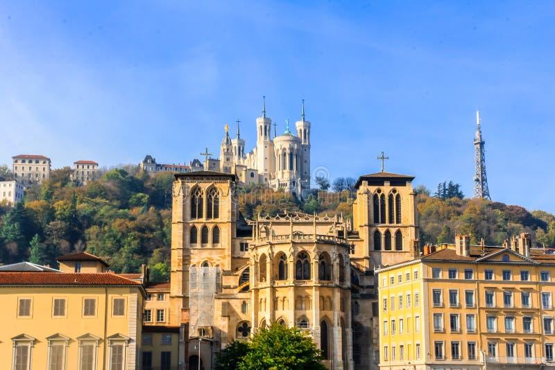 Vieille ville de Lyon, France image stock