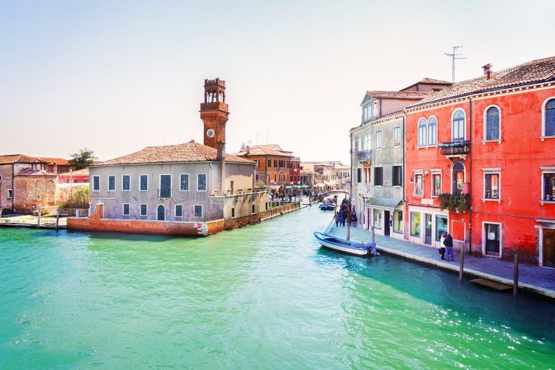 Vieille ville de Murano, Italie photos libres de droits