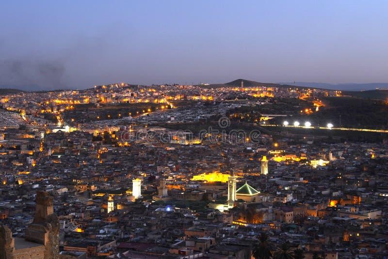 Vieille ville de nightscene de Fes Marocco