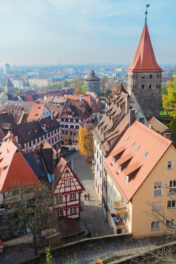 Vieille ville de Nuremberg, Allemagne photographie stock