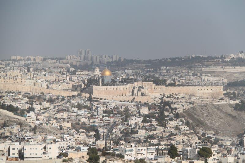 Vieille ville de paysage de Jérusalem, Israël photo stock
