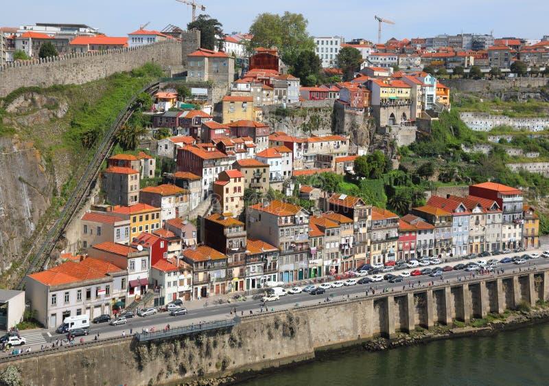 Vieille ville de Porto de vue aérienne photographie stock libre de droits