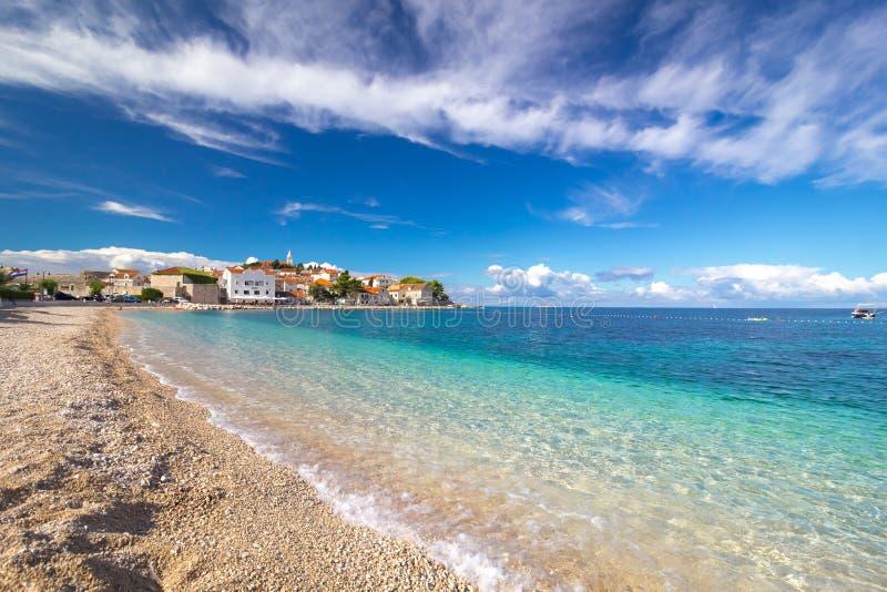 Vieille ville de Primosten en Croatie photographie stock libre de droits
