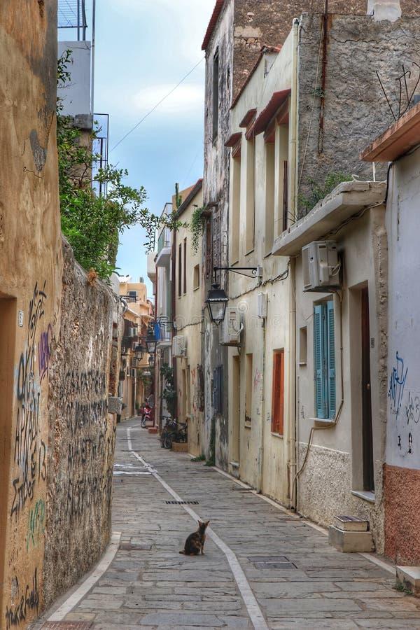 Vieille ville de Rethymnon image stock