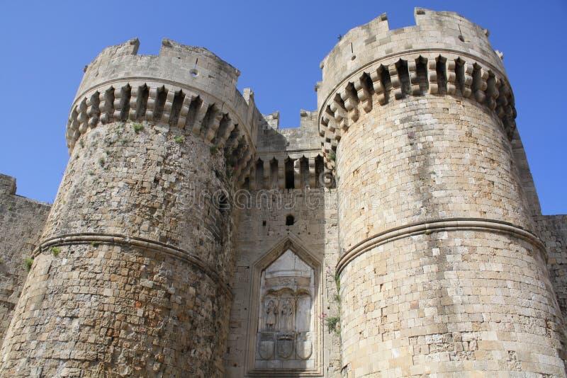 Vieille ville de Rhodes photo stock