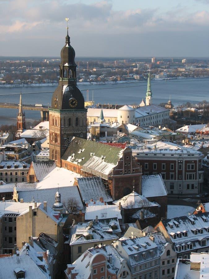 Vieille ville de Riga photo libre de droits