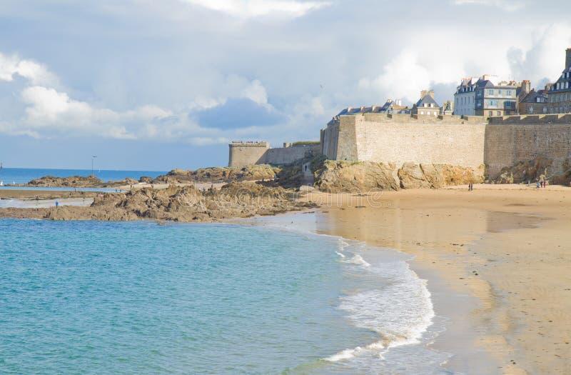 Vieille ville de saint Malo, Brittany, France image stock