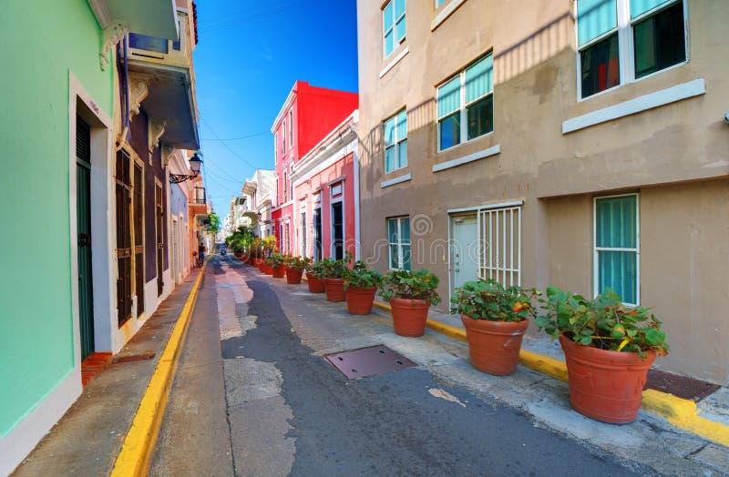 Vieille ville de San Juan images libres de droits