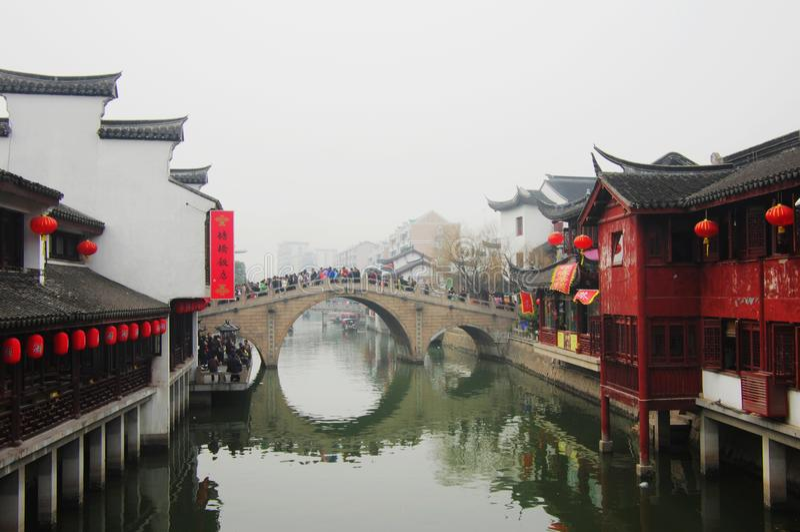 Vieille ville de Shippo à Changhaï, Chine photographie stock