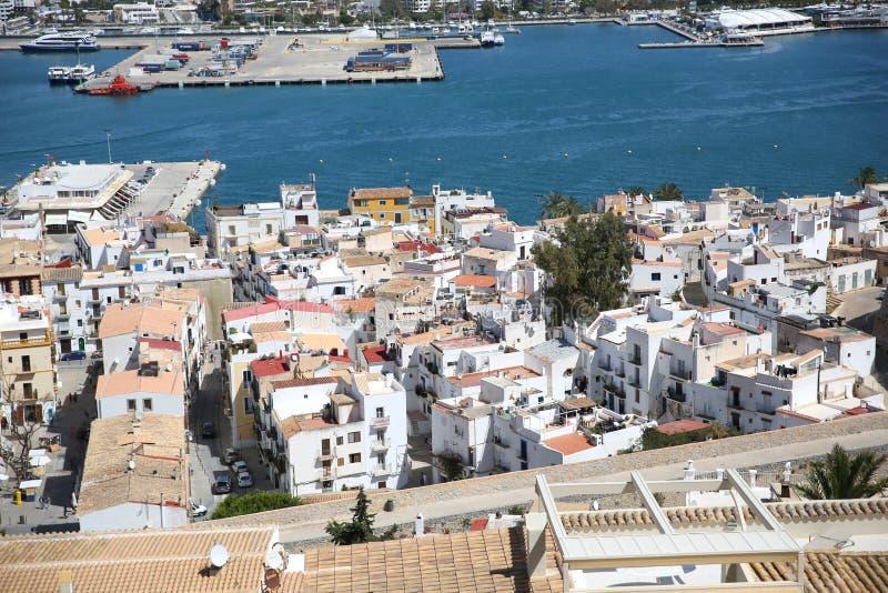 Vieille ville de ville d'Ibiza photo libre de droits