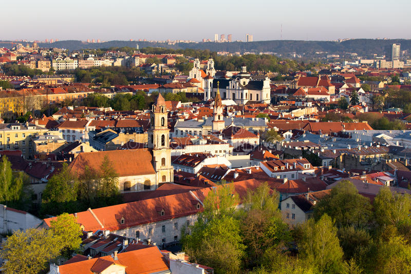 Vieille ville de Vilnius photo stock