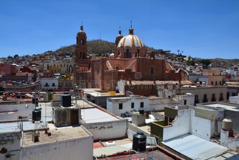 Vieille ville de Zacatecas au Mexique image libre de droits