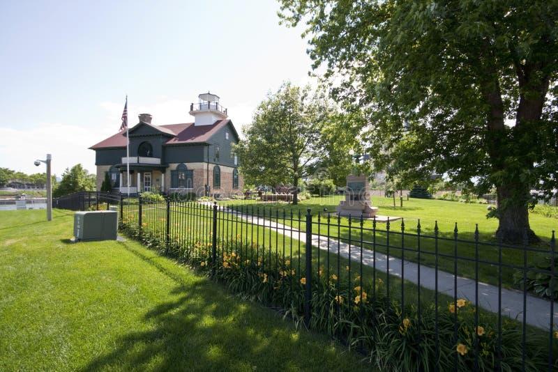 Vieille ville du Michigan, phare 1858 de l'Indiana photographie stock libre de droits