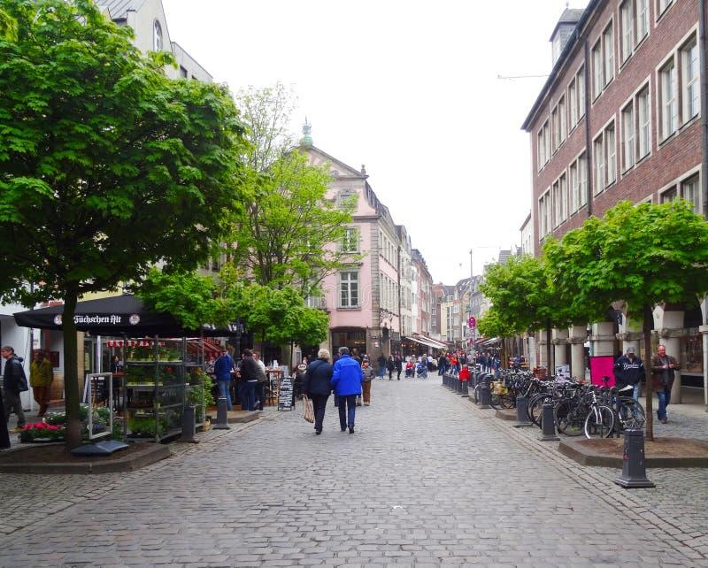 Vieille ville, Dusseldorf photos stock