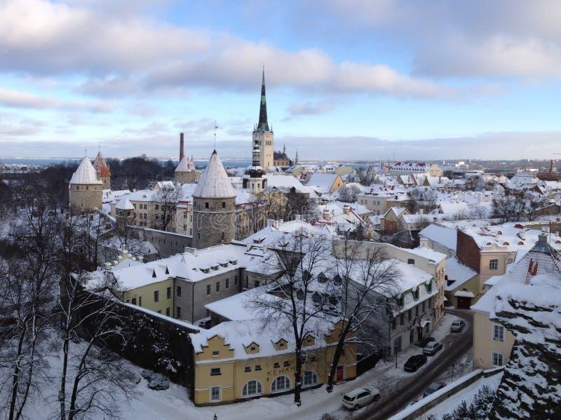 Vieille ville Estonie de Tallinn photos libres de droits