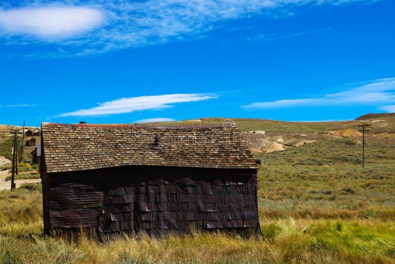 Vieille ville fantôme occidentale sauvage abandonnée d'or dans le délabrement, Etats-Unis photos libres de droits