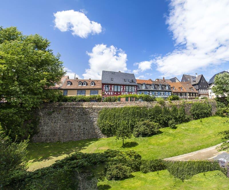 Vieille ville Francfort Hoechst avec ses maisons à colombage photos stock