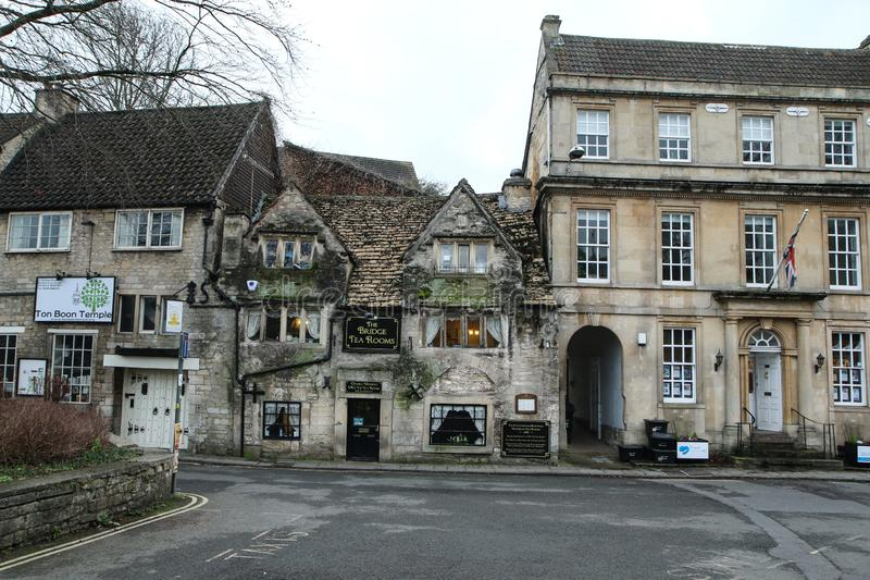 Vieille ville gentille Bradford sur Avon au Royaume-Uni photos libres de droits