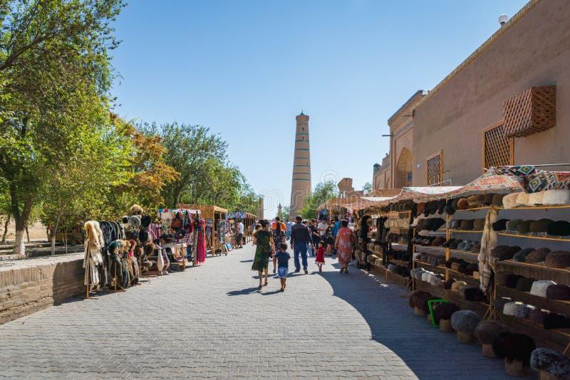 Vieille ville historique de Khiva dans l'Ouzbékistan, l'Asie centrale image libre de droits