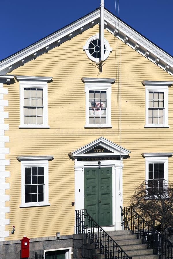 Vieille ville historique Hall House, construit 1727, Marblehead, le Massachusetts, Etats-Unis images stock