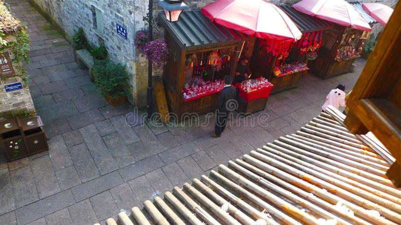 Vieille ville historique Ningbo, Chine photo libre de droits