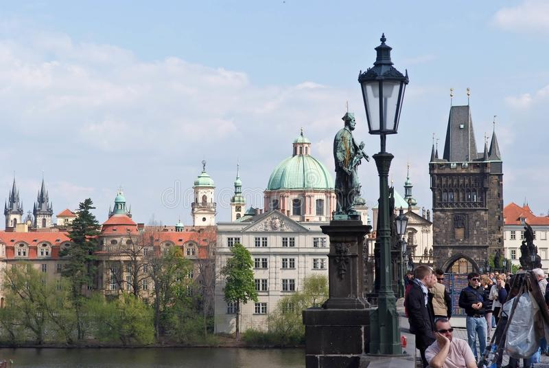Vieille ville Horizontal de ville Prague, République Tchèque image libre de droits