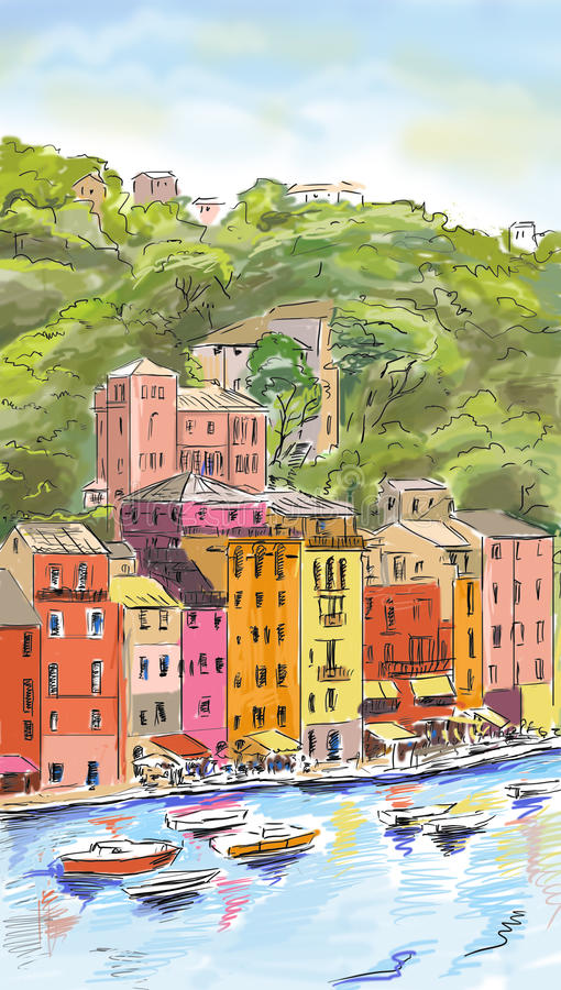 Vieille ville - illustration illustration stock