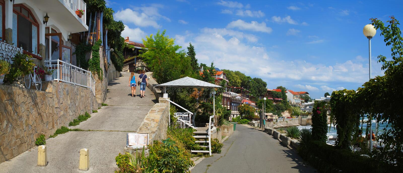 Vieille ville Nessebar photos libres de droits