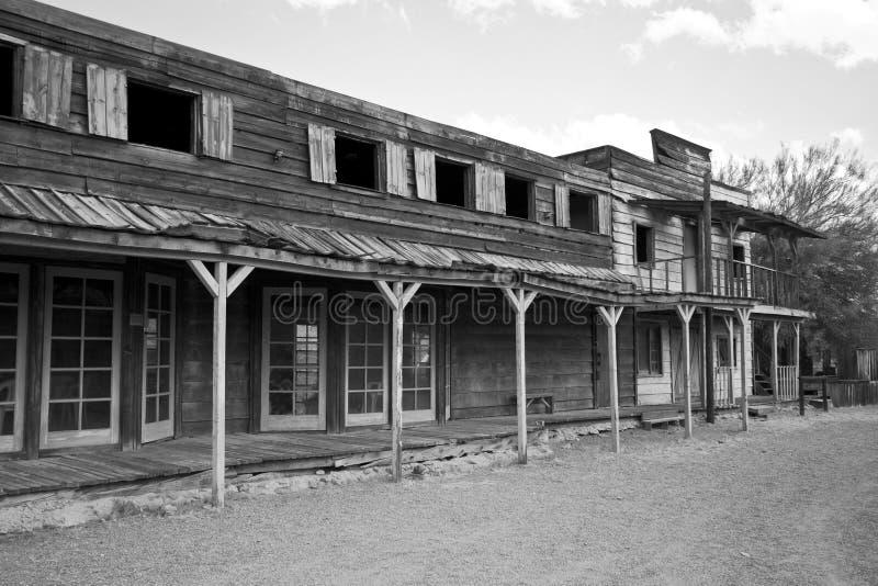 Vieille ville occidentale sauvage Etats-Unis de cowboy image libre de droits
