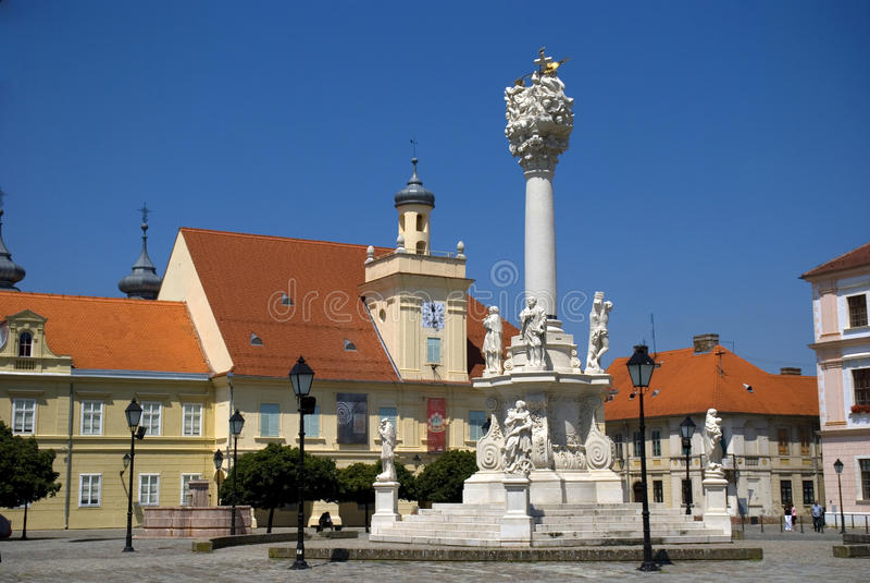 Vieille ville, Osijek, Croatie image stock