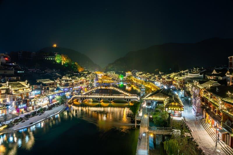 Vieille ville paisible de comté de Fenghuang photos libres de droits